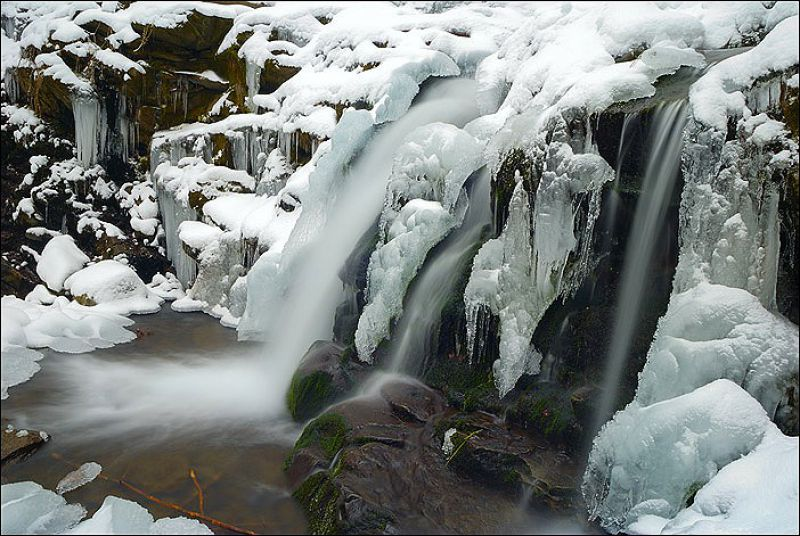 Картинки по запросу водопад шипіт зима